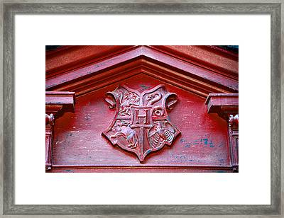 Hogwarts Crest Framed Print by David Lee Thompson