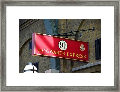 Hogwarts Express Train Depot Sign  Framed Print by David Lee Thompson