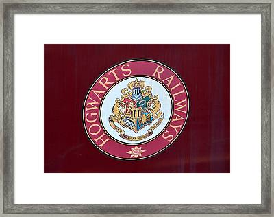 Hogwarts Railways Sign  Framed Print by David Lee Thompson