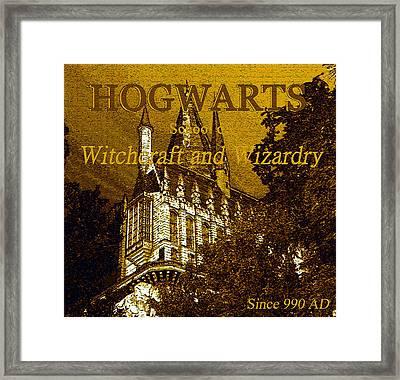 Hogwarts Since 990 Ad Framed Print by David Lee Thompson