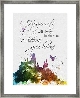 Hogwarts Will Welcome You Home Framed Print by Rebecca Jenkins