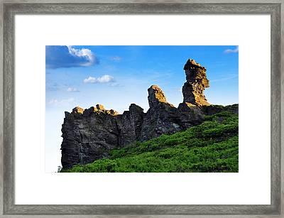 Hoher Stein Kraslice Czech Republic Framed Print by Aged Pixel