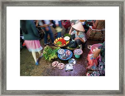 Hoi An Market Framed Print by Stuart Row