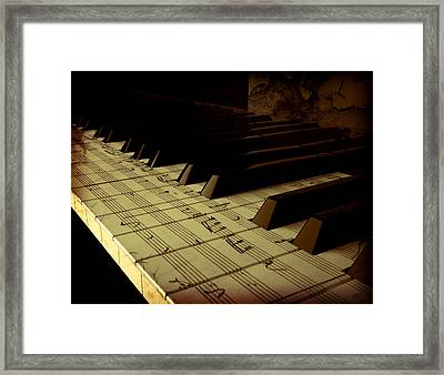 hold Piano Framed Print by Bruno Haver