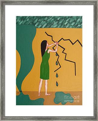 Holding Back The Flood Framed Print by Patrick J Murphy