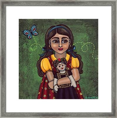 Holding Frida Framed Print by Victoria De Almeida