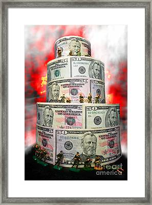 Holding The Financial Fort Framed Print by Olivier Le Queinec