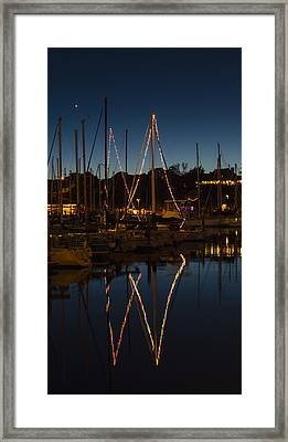 Holiday Boats Framed Print by Loree Johnson