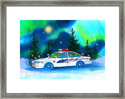 Holiday Cheer For Our First Responders Framed Print by Teresa Ascone