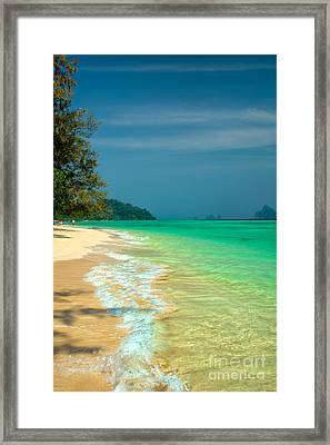 Holiday Destination Framed Print by Adrian Evans