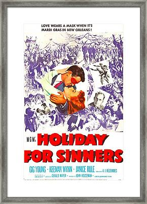 Holiday For Sinners, Us Poster, Gig Framed Print by Everett