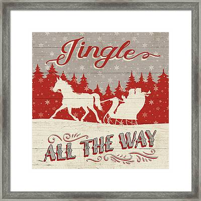 Holiday In The Woods I Framed Print by Janelle Penner