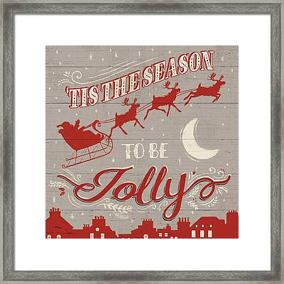 Holiday In The Woods II Framed Print by Janelle Penner