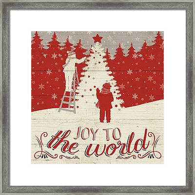 Holiday In The Woods Iv Framed Print by Janelle Penner