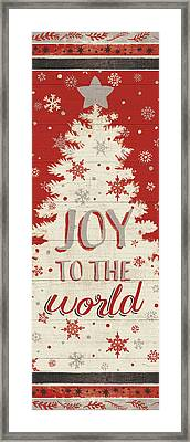Holiday In The Woods V Framed Print by Janelle Penner