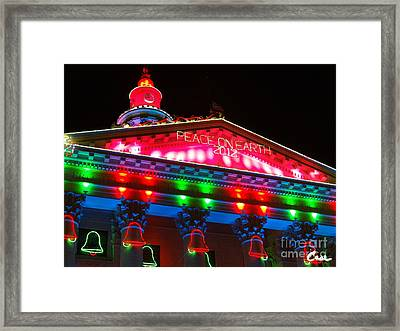 Holiday Lights 2012 Denver City And County Building L1 Framed Print by Feile Case