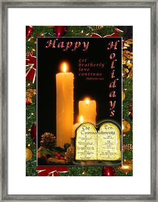 Holiday Love Declaration Framed Print by Terry Wallace