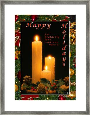 Holiday Love Declaration2 Framed Print by Terry Wallace