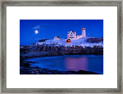 Holiday Moon Framed Print by Michael Blanchette