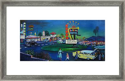 Holiday Motel Framed Print by Matthew Pinkey