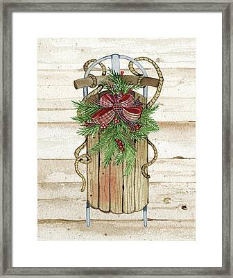 Holiday Sports II On Wood Framed Print by Kathleen Parr Mckenna
