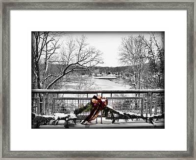 Holidays At The Park Framed Print by Monnie Ryan