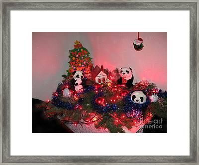 Holidays In Pandaland Framed Print by Ausra Huntington nee Paulauskaite