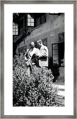 Hollaender And Giles Framed Print by American Philosophical Society