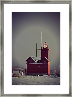 Holland Lighthouse Framed Print by Dawdy Imagery