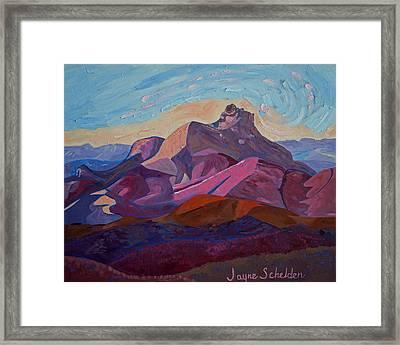 Hollister Peak Framed Print by Jayne Schelden