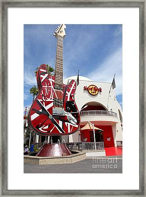 Hollywood Hard Rock Cafe In Los Angeles California 5d28422 Framed Print by Wingsdomain Art and Photography