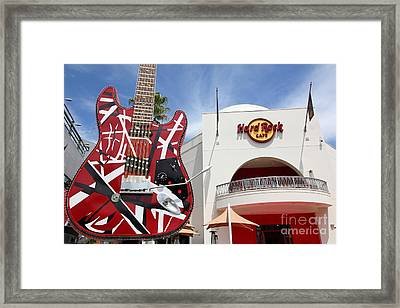 Hollywood Hard Rock Cafe In Los Angeles California 5d28423 Framed Print by Wingsdomain Art and Photography
