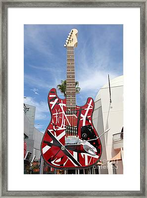Hollywood Hard Rock Cafe In Los Angeles California 5d28424 Framed Print by Wingsdomain Art and Photography