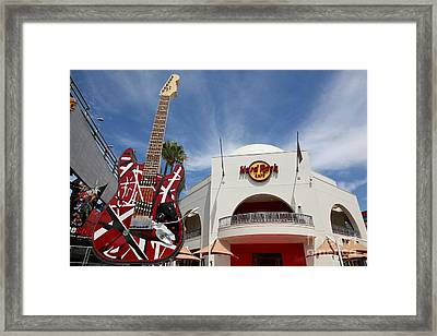Hollywood Hard Rock Cafe In Los Angeles California 5d28429 Framed Print by Wingsdomain Art and Photography