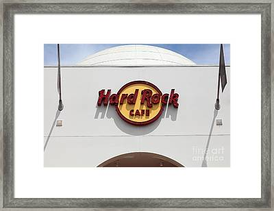 Hollywood Hard Rock Cafe In Los Angeles California 5d28430 Framed Print by Wingsdomain Art and Photography