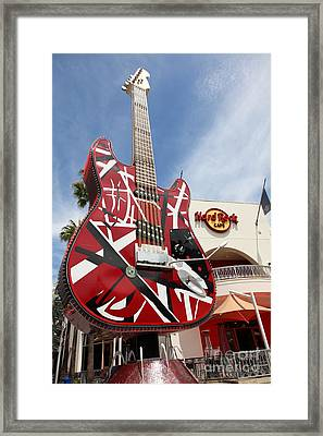 Hollywood Hard Rock Cafe In Los Angeles California 5d28434 Framed Print by Wingsdomain Art and Photography