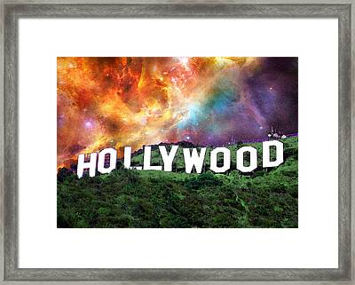 Hollywood - Home Of The Stars By Sharon Cummings Framed Print by Sharon Cummings