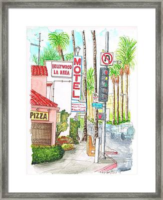 Hollywood-la Brea Motel In Hollywood - California Framed Print by Carlos G Groppa