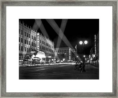 Hollywood Premier Framed Print by Underwood Archives