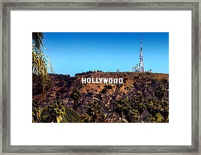 Hollywood Sign Framed Print by Az Jackson