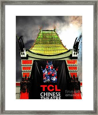 Hollywood Tcl Chinese Theatre 5d28983 Vertical Framed Print by Wingsdomain Art and Photography