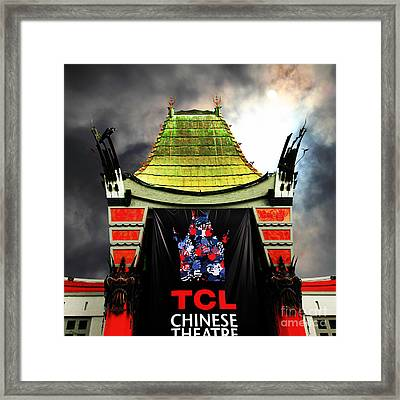 Hollywood Tcl Chinese Theatre 5d28983 Square Framed Print by Wingsdomain Art and Photography