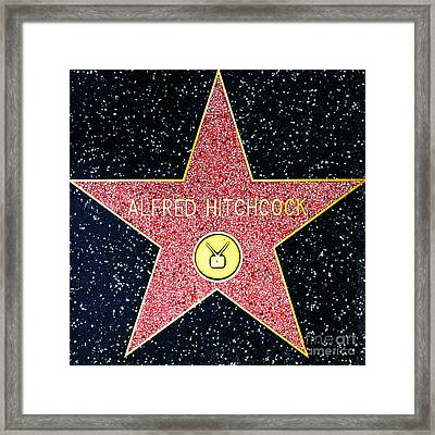 Hollywood Walk Of Fame Alfred Hitchcock 5d28961 Framed Print by Wingsdomain Art and Photography