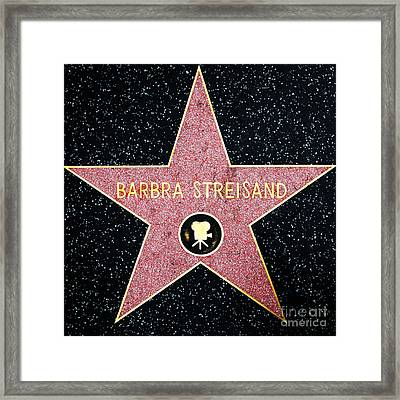 Hollywood Walk Of Fame Barbra Streisand 5d28986 Framed Print by Wingsdomain Art and Photography