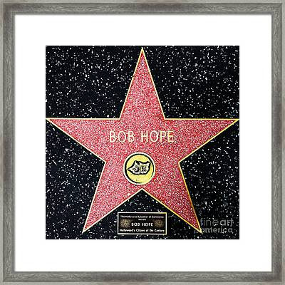 Hollywood Walk Of Fame Bob Hope 5d28954 Framed Print by Wingsdomain Art and Photography