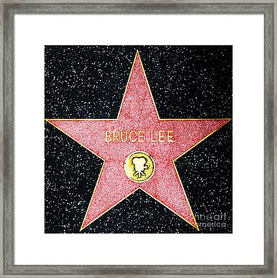 Hollywood Walk Of Fame Bruce Lee 5d28971 Framed Print by Wingsdomain Art and Photography