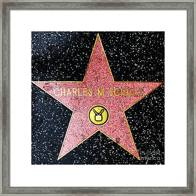 Hollywood Walk Of Fame Charles Schulz 5d28947 Framed Print by Wingsdomain Art and Photography