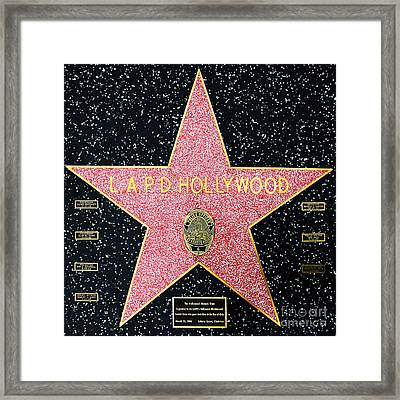 Hollywood Walk Of Fame Lapd Hollywood 5d28920 Framed Print by Wingsdomain Art and Photography