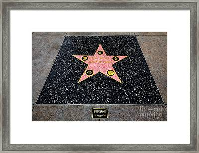 Hollywood Walk Of Fame 5d28921 Framed Print by Wingsdomain Art and Photography
