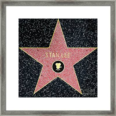 Hollywood Walk Of Fame Stan Lee 5d28914 Framed Print by Wingsdomain Art and Photography